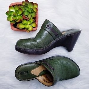 Born l Forest Green Mules